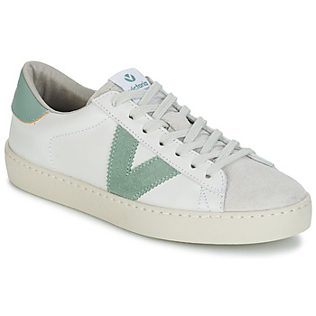 Shoes Women Low top trainers Victoria BERLIN PIEL CONTRASTE White / Green