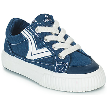 Shoes Children Low top trainers Victoria TRIBU LONA RETRO Blue