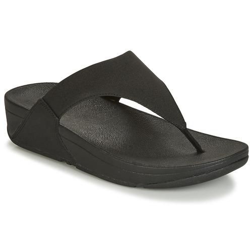 Shoes Women Flip flops FitFlop LULU SHIMMERLUX Black