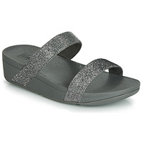 Shoes Women Mules FitFlop LOTTIE GLITZY SLIDE Silver