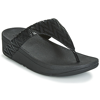 Shoes Women Flip flops FitFlop LOTTIE CHEVRON SUEDE Black