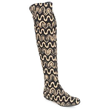 Shoes Women High boots Missoni SM05 Beige