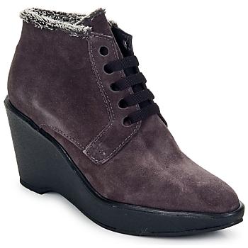 Shoes Women Low boots Parallèle LAHO Prune
